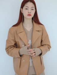 [SOFT SEOUL] soft leather jacket [Caramel]