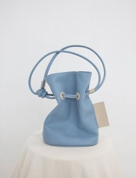 [SOFT SEOUL] soft bucket  leather bag [baby blue]