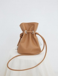 [SOFT SEOUL] soft bucket  leather bag [Caramel]