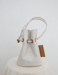 [SOFT SEOUL] soft bucket  leather bag [ivory]