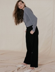 [DIAGONAL] TRIPLE TUCK PANTS