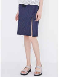 [margarin fingers] slit pencil skirt