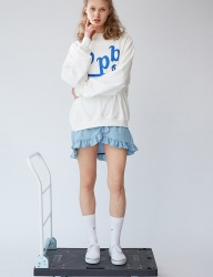 [bpb] Smile B Sweatshirt_White