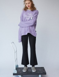 [bpb] Lace Rose Sweatshirt_Violet