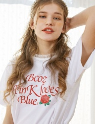 [bpb] Lace Rose T-Shirt_White