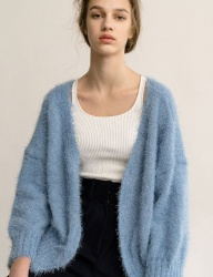 [nuissue] KNIT CURLY CARDIGAN