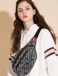 [motivestreet] PATTERN WAISTBAG ALPHABET PAT