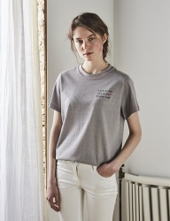 [INES] LETTERING STAR T-SHIRT