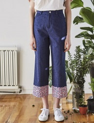 [INES] HEART POINT PANTS