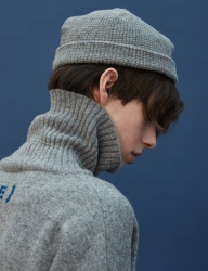 [replaycontainer] knit beanie (gray)
