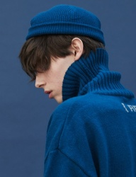 [replaycontainer] knit beanie (ink blue)