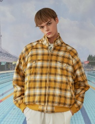 [MAINBOOTH] Reversible Blouson(YELLOW CHECK)