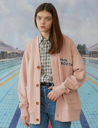 [MAINBOOTH] Basic logo Cardigan(PINK)