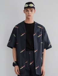 [MAINBOOTH] Shark Shirt(DARK NAVY)