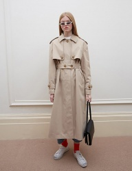 [oioi] BUTTON POINT TRENCH COAT