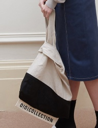 [oioi] TWO-TONE LINEN BAG