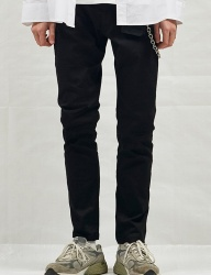 [CHUCK] 18SS BLACK DENIM STRAIGHT JEAN