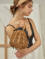 [THREE KNOCKS] ohara rattan bag