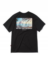 [GROOVERHYME] 2018 BEACH BACK PHOTO PRINT T-SHIRTS [GTS029G23]