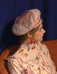 [Oct.3] Layered Lace Square Beret [Pink]