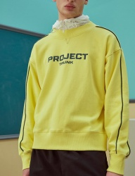 [TRUNK PROJECT] Colorpiped sweatshirts_YELLOW / GREY