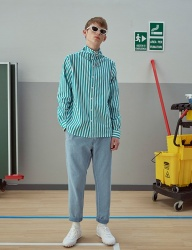 [TRUNK PROJECT] String highneck shirts_STRIPE