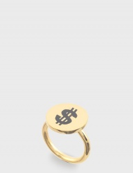 [NONENON] DOLLAR RING [BLACK]