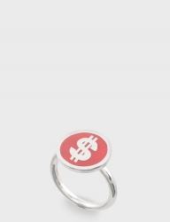 [NONENON] DOLLAR RING [RED]