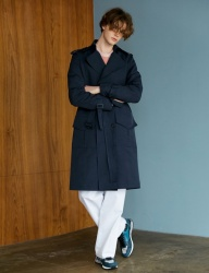 [BONNIE&BLANCHE] SURFACE TRENCH COAT (NAVY)