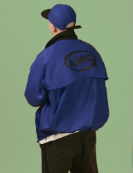 [A PIECE OF CAKE] Oval Logo Blouson_Blue