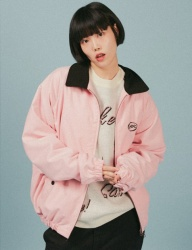 [A PIECE OF CAKE] Oval Logo Blouson_Pink