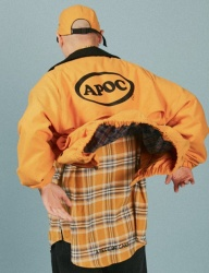 [A PIECE OF CAKE] Oval Logo Blouson_Yellow