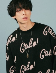 [A PIECE OF CAKE] Cake Lettering knit_Black