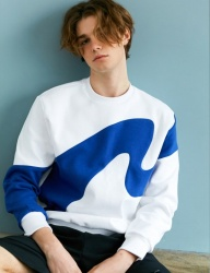 [BONNIE&BLANCHE] BIG WAVE SWEATSHIRT (WHITE)