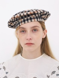 [AWESOME NEEDS] CLASSIC BERET_CHECK BEIGE