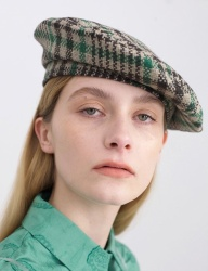 [AWESOME NEEDS] CLASSIC BERET_CHECK GREEN
