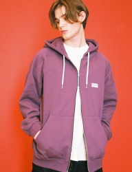 [SIESTA] logo zip-up purple