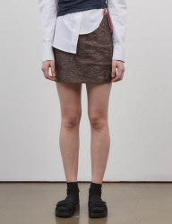 [ACHIO] PAPER SKIRT_BROWN