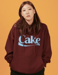 [A PIECE OF CAKE] Cake Logo Hoodie_Maroon