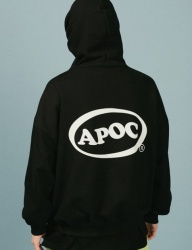 [A PIECE OF CAKE] Oval Logo Hoodie_Black