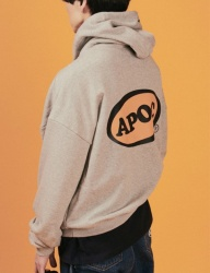 [A PIECE OF CAKE] Oval Logo Hoodie_Gray