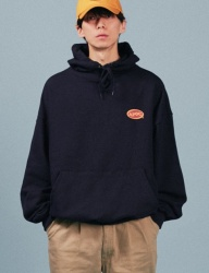 [A PIECE OF CAKE] Oval Logo Hoodie_Navy