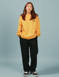 [A PIECE OF CAKE] Oval Logo Longsleeved T-shirts_Yellow