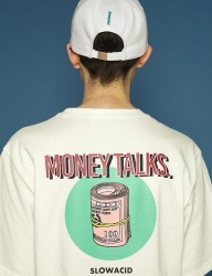 [SLOWACID] [UNISEX] Moneystack Short T (white)