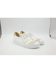 [HATISS] NOTOS WHITE SLIP ON