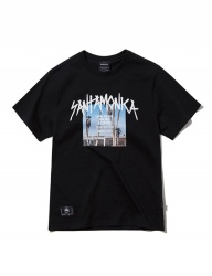 [GROOVERHYME] 2018 SANTAMONICA PHOTO PRINT T-SHIRTS [GTS042G23]