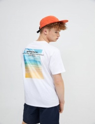 [GROOVERHYME] 2018 BACK BEACH PHOTO PRINT T-SHIRTS [GTS046G23]