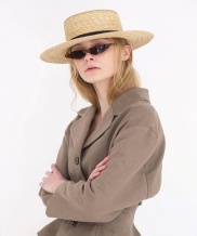 [AWESOME NEEDS] WHEAT STRAW BOATER HAT(6color)