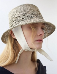 [AWESOME NEEDS] NATURAL SQUARE SEAGRASS BUCKET HAT