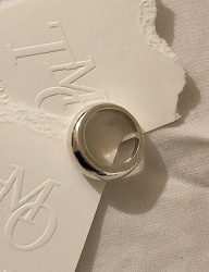 [TMO BY 13MONTH] BASIC BOLD CIRCLE RING (SILVER)